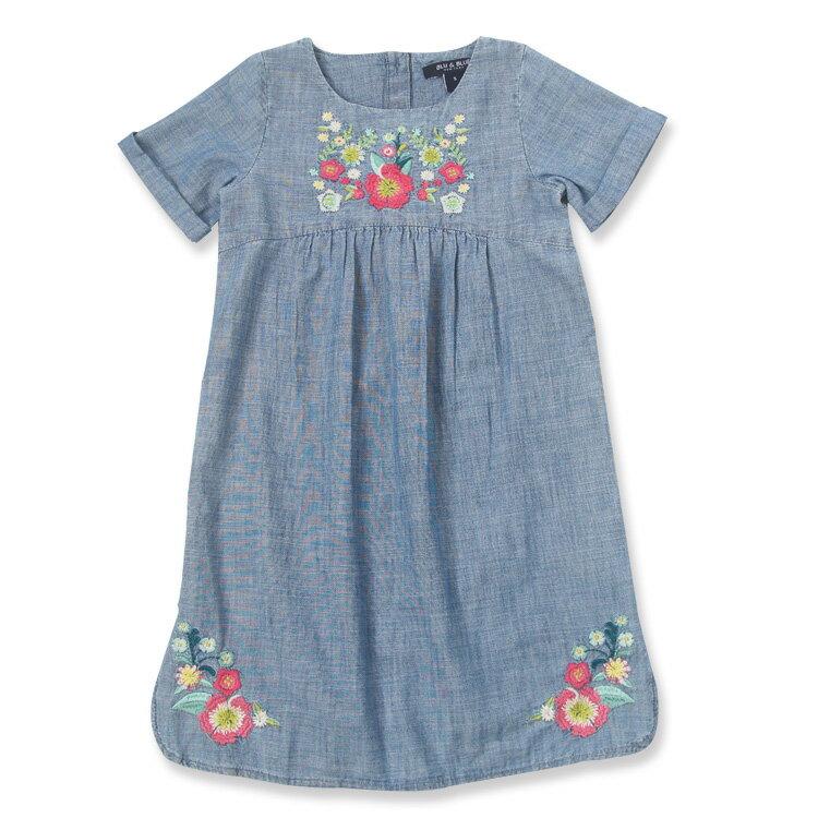 Blu&Blue 花卉刺繡洋裝 (2-6歲) 1