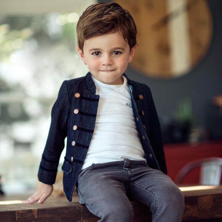Blu&Blue 鼓手丹寧外套 (2-5歲) 0