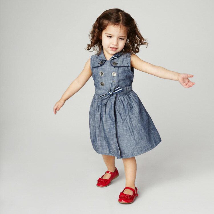 Blu&Blue 無袖繫帶洋裝 (2-6歲) 0
