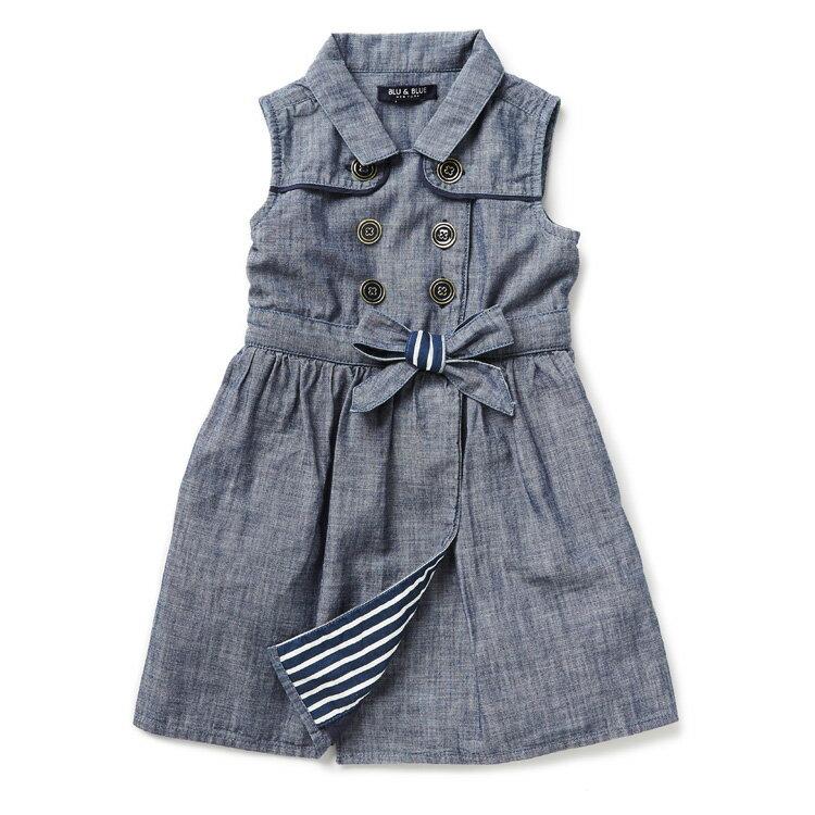 Blu&Blue 無袖繫帶洋裝 (2-6歲) 1