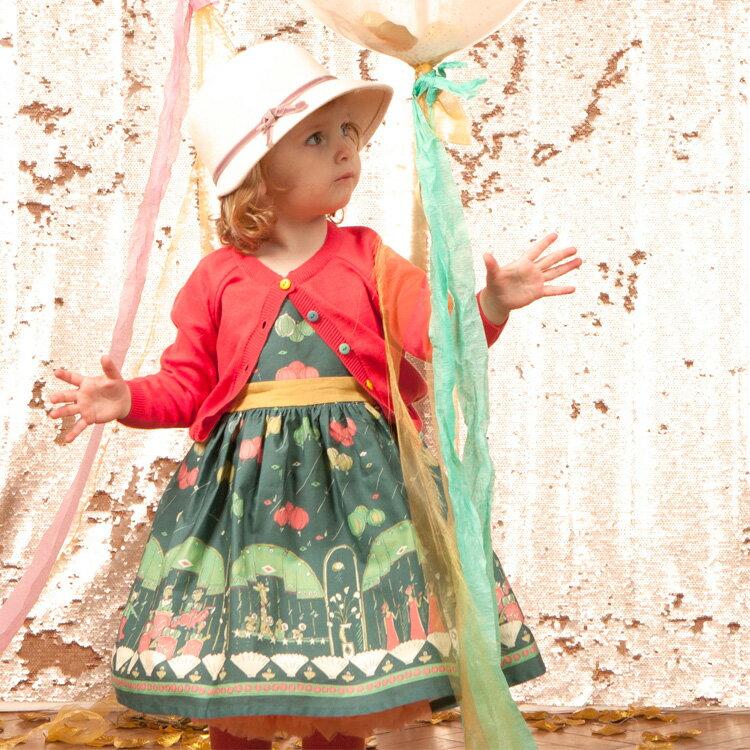 Palava 氣球派對洋裝 長袖 湖水綠 ( 2-7歲) 0
