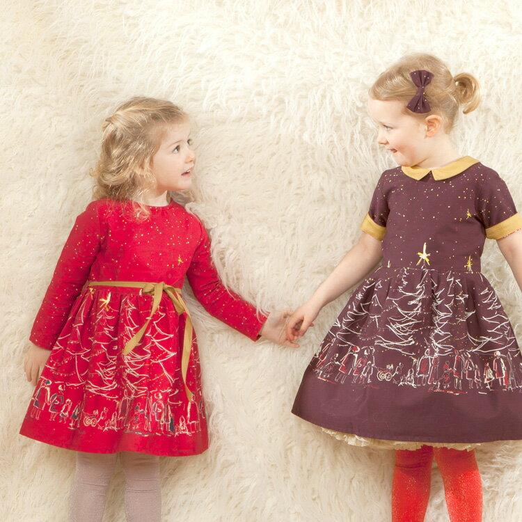Palava 聖誕夜洋裝 長袖 紅 ( 2-7歲) 0