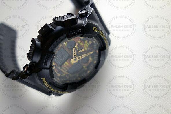 國外代購 CASIO G-SHOCK GA-100CM-4A 叢林迷彩 防水 手錶 腕錶 電子錶 男女錶 迷彩紅 5