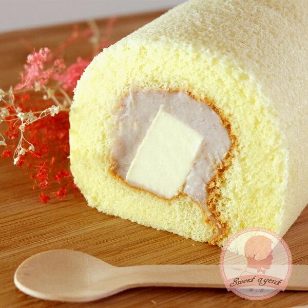 【甜點特務】[ 紫戀芋香奶凍捲 ] 芋香泥 + 鮮奶油 + 鬆綿蛋糕