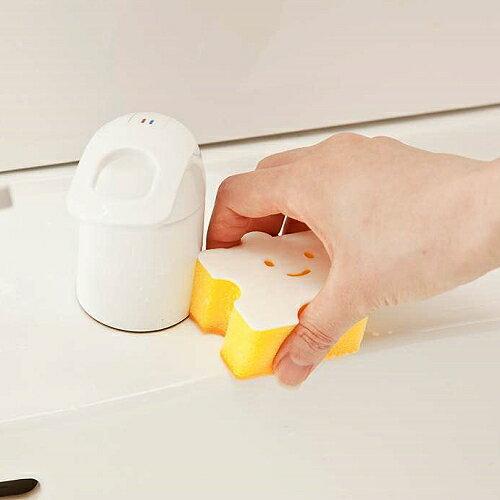 日本製造AISEN黏貼式洗臉台小塊拼圖海綿刷(1包2入)