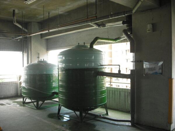 全功能雨水回收過濾水塔5噸