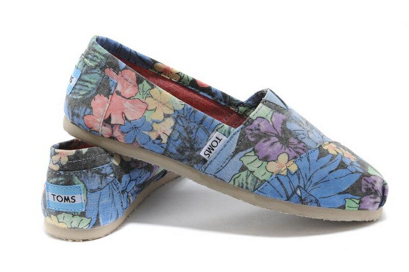 【TOMS】熱帶花朵平底休閒鞋  Faded Tropical Women's Classics 0