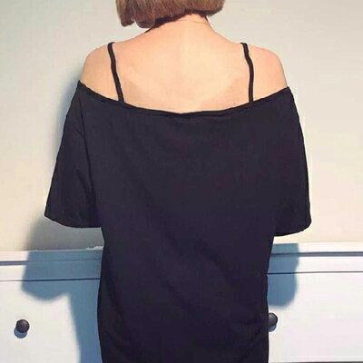 長版T 香港時尚性感露肩寬鬆連身裙【D2951】☆雙兒網☆ 2