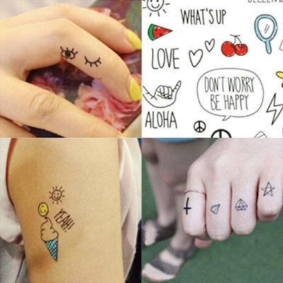 ☆雙兒網☆刺青貼紙 韓版逗趣簡易免刺青紋身貼紙【O2929】