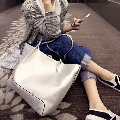 手提包 時尚明星簡約百搭子母包側背包【O2956】☆雙兒網☆ 0