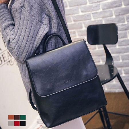 後背包 韓版百搭質感皮革方型背包【O3021】☆雙兒網☆ 1