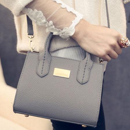 手提包 經典凱莉質感金牌側背包【O3053】☆雙兒網☆ 2