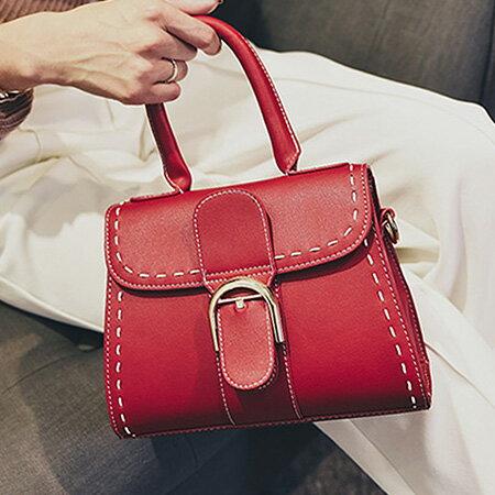 手提包 韓版時尚扣環小方包側背包【O3153】☆雙兒網☆ 0