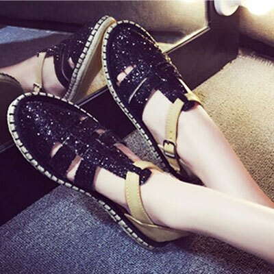 樂福鞋 流行時尚草編平底亮片涼鞋【S1130】☆雙兒網☆ 2