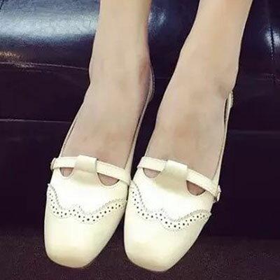 懶人鞋 甜美雕花平底包鞋【S1267】☆雙兒網☆ 1