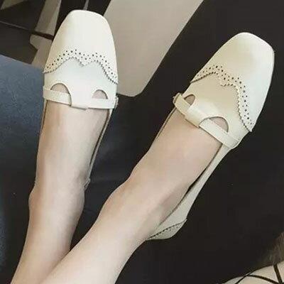 懶人鞋 甜美雕花平底包鞋【S1267】☆雙兒網☆ 0