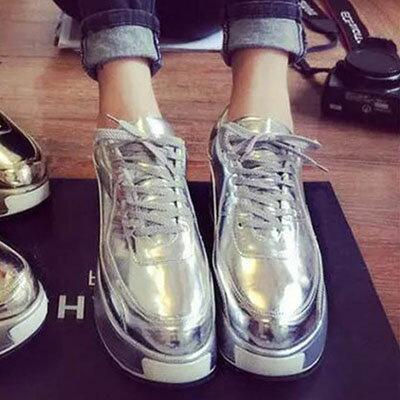 厚底  超潮金屬感厚底休閒鞋【S1308】☆雙兒網☆ 3
