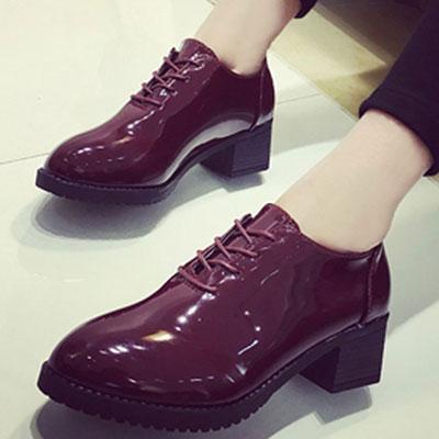 牛津鞋 學院風質感漆皮尖頭休閒鞋【S1518】☆雙兒網☆ 1