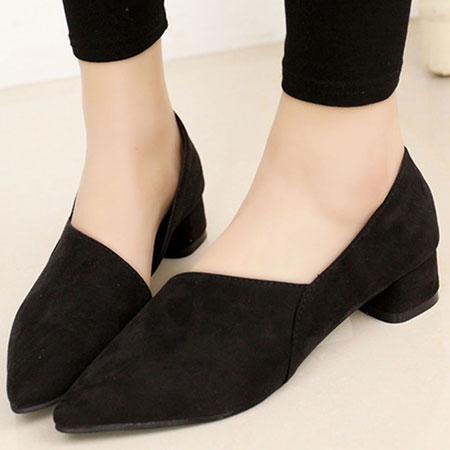 尖頭鞋 歐美名模最愛絨布斜面尖頭鞋【S1547】☆雙兒網☆