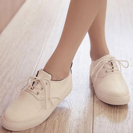 休閒鞋 韓版流行格紋皮革休閒鞋【S1559】☆雙兒網☆ 2