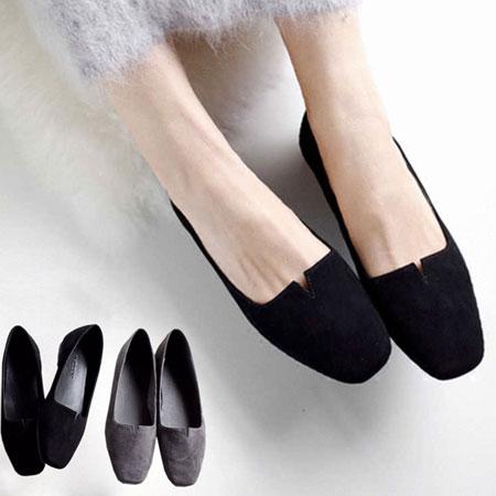 平底鞋 經典素色小V方頭平底鞋【S1567】☆雙兒網☆ 0