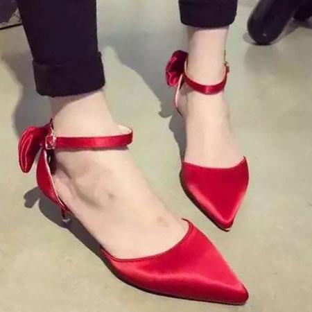 高跟鞋 優雅LADY緞面蝴蝶結尖頭跟鞋【S1589】☆雙兒網☆ 0