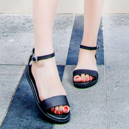 涼鞋 歐美簡約個性繫帶平底涼鞋【S1624】☆雙兒網☆ 1