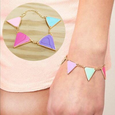 ☆雙兒網☆【AO2330】幾何三角彩色手鍊