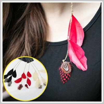 ☆雙兒網☆ twinkle twins 【o1121】H&M款時尚個性龐克羽毛鏈條長耳環