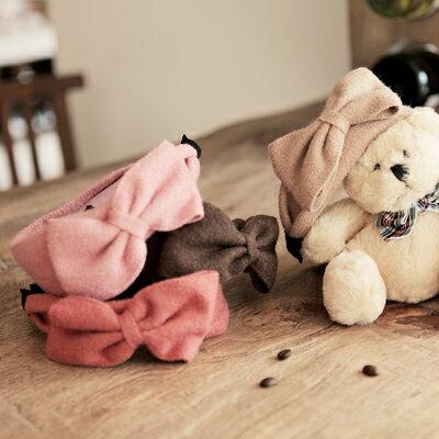☆雙兒網☆秋的記憶.預購【O215】韓國棉花糖女孩寬版蝴蝶髮箍-共四色