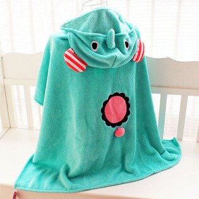 ☆雙兒網☆薄荷小象居家斗篷毛毯【O2527】宅人披肩家居毯 / 空調毯/懶人毯 懶懶毯