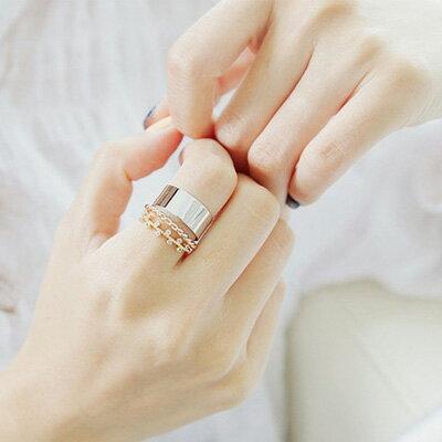 韓劇沒關係是愛情啊 C型麻花水鑽戒指三組件【O2694】☆雙兒網☆ 0