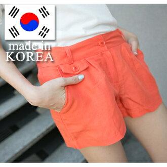 ☆雙兒網☆ Girl's walk 【P841】正韓貨 ZARA款舒適乾爽棉麻料修飾臀部西裝感短褲