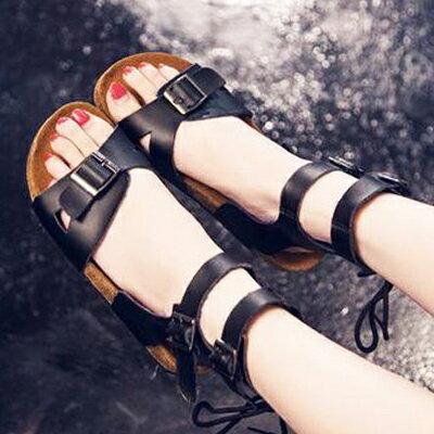 羅馬交叉扣帶軟木涼鞋【S497】☆雙兒網☆ 1
