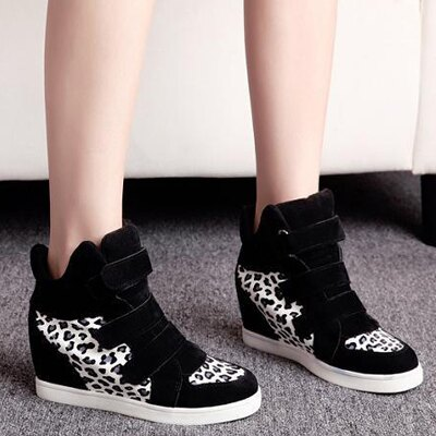 流行豹紋夜光內增高包鞋【S519】☆雙兒網☆ 0