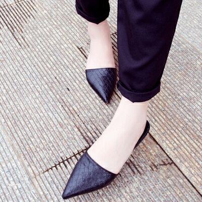 時尚皮革性感尖頭拖鞋【S521】☆雙兒網☆ 1