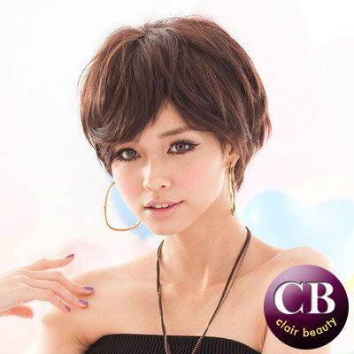 ☆雙兒網☆【MB091】搖滾龐克中性短髮-咖啡色 0