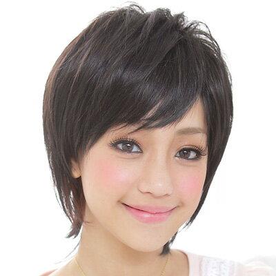 ☆雙兒網☆【D63】涼爽多層次超短髮-咖啡色