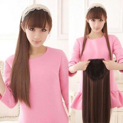 長70公分靈氣唯美氣質長直髮【MW018】仿真半罩式假髮-耐熱纖維☆雙兒網☆ 0
