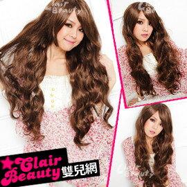 ☆雙兒網☆優質假髮【736B】整頂式-日系洋娃娃長捲髮 - 限時優惠好康折扣