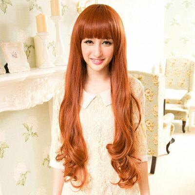 ☆雙兒網☆高仿真耐熱整頂假髮~超火紅甜美混血女模代言【MA023】小臉豐厚感超長捲髮 0