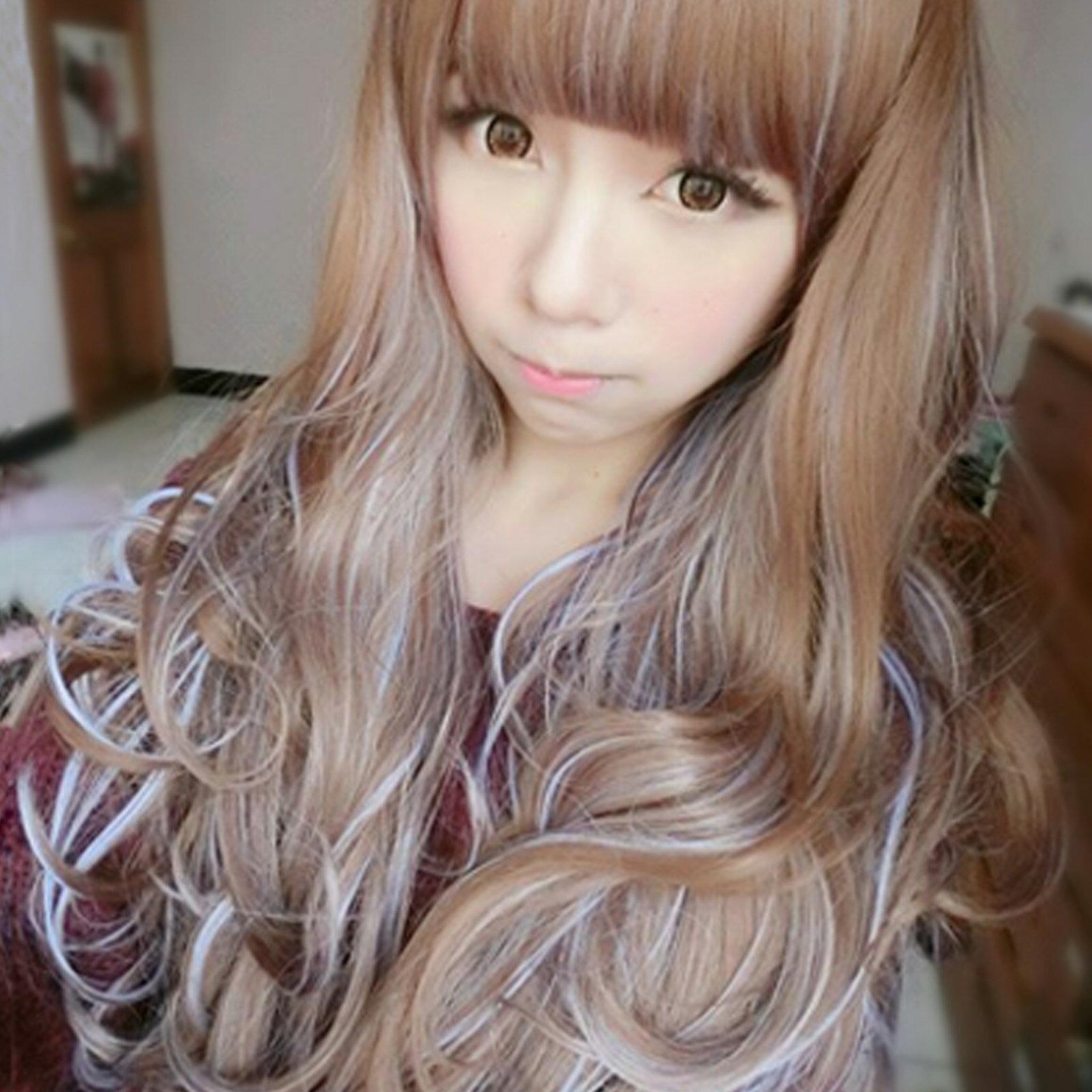 挑染少女時代動感混色長髮~高仿真超自然整頂假髮【MA119】☆雙兒網☆ 0