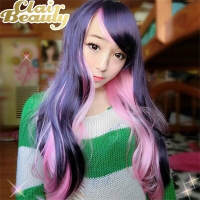 角色扮演/粉色MIX深紫雙色漸層假髮【MA168】☆雙兒網☆ 0