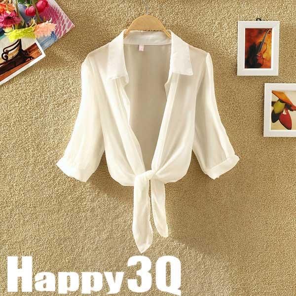 休閒雪紡立領防曬衣冷氣小外套空調衫-白/灰/黑/紅/粉/藍【AAA0281】