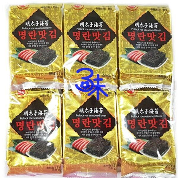 (韓國) HAEMATT 京畿道明太子味付海苔 1包 72 公克 (6g*12小包) 特價 166 元 【8801500162630】
