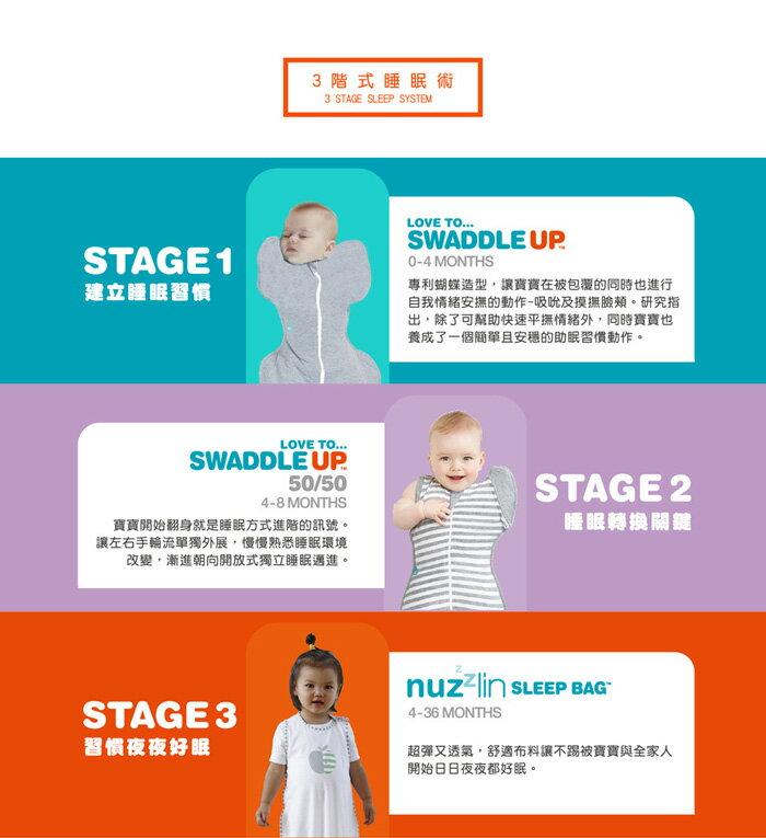 『121婦嬰用品館』澳洲 Love To Dream SWADDLE UP 50/50 專利蝶型包巾 stage2 可拆式進階款-灰(M) 5