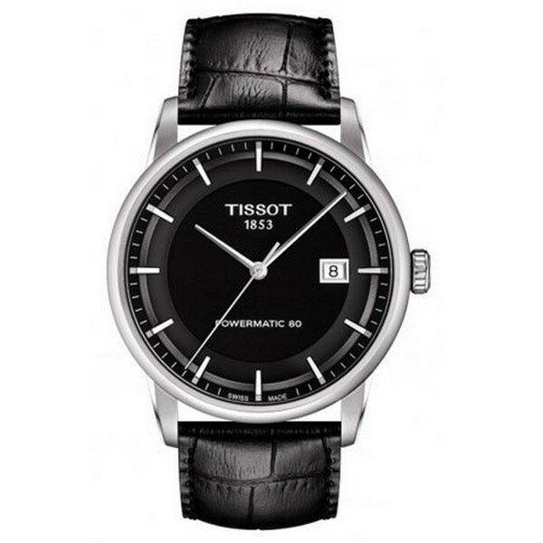 TISSOT天梭T0864071605100  80小時動力儲存機械腕錶 黑面41mm ~