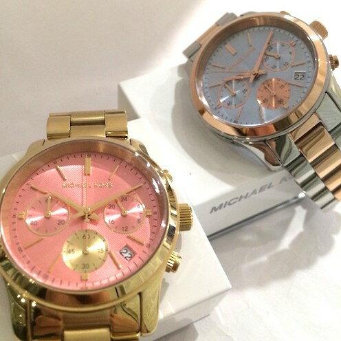 美國Outlet 正品代購 Michael Kors MK 三眼 雙色精鋼 滿鑽 手錶 腕錶 MK6166 2