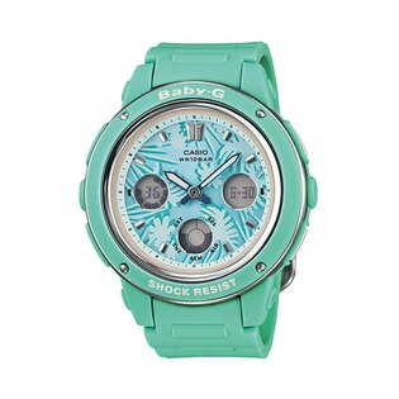 CASIO BABY-G BGA-150F-3A 天空藍雙顯流行腕錶/藍面42.8mm