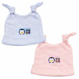 PUKU藍色企鵝 ~ 新生嬰兒帽 ^(水藍 粉紅^) ~  好康折扣